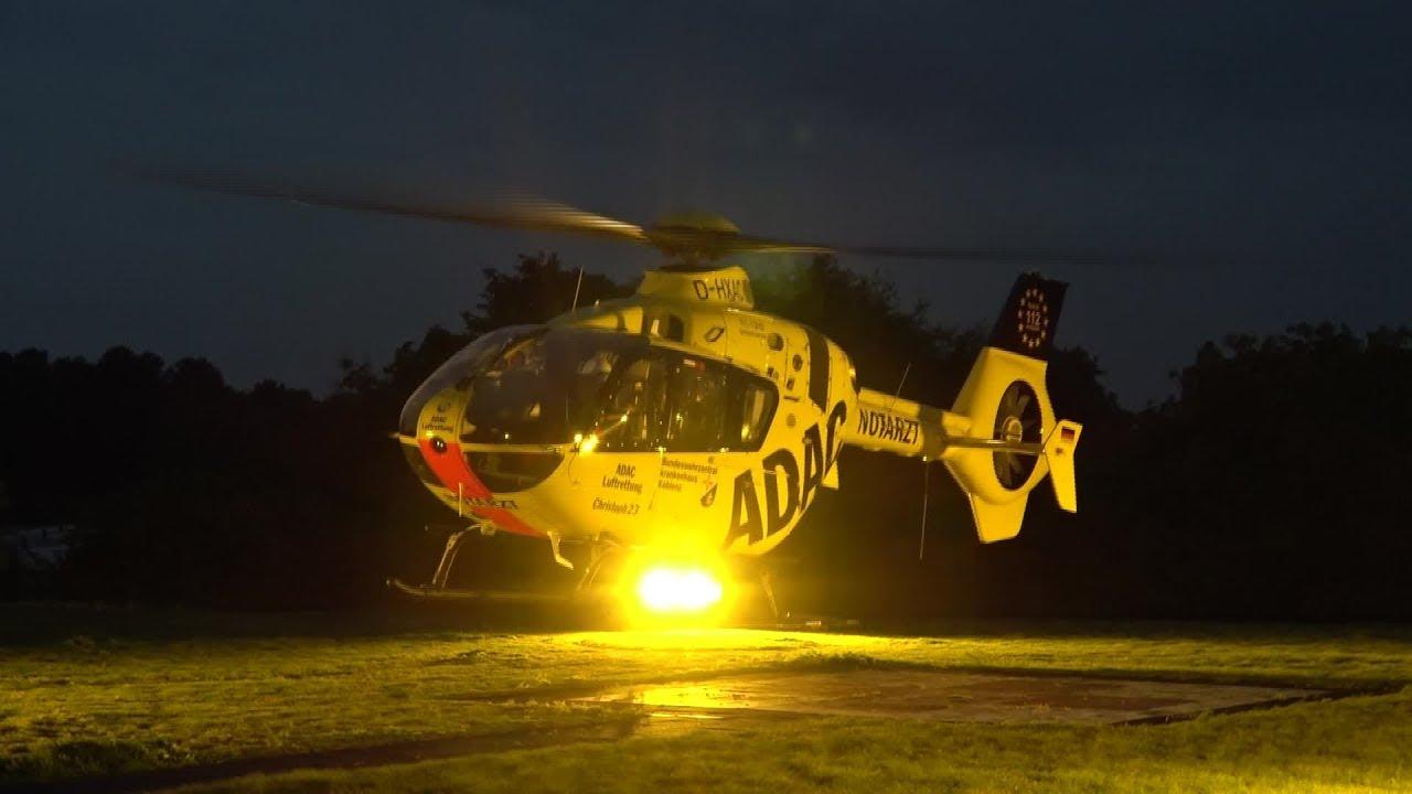 RTH Christoph 23 Luftrettung ADAC/BW BWZK Koblenz startet ...