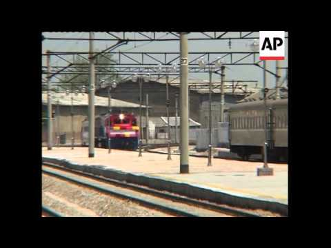 SKorean train arriving in NKorea