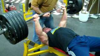 Derek Poundstone 500 lb Bench Press for reps