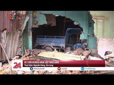 Container đâm sập 7 nhà dân trong đêm tại TPHCM   VTV24
