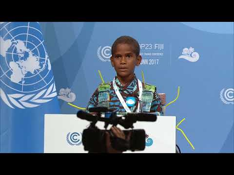 Timoci Naulusala Addresses the High-Level Opening of COP23