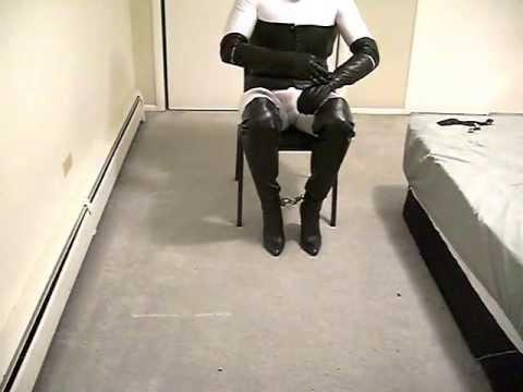 Self bondage boots