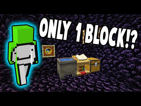 Dream Escapes Prison ONLY using 1 Block! [200 IQ] (DreamSMP)