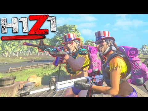 H1Z1 - TEAM AMERICA!! AMERICA NUMBER 1!! H1Z1 King Of The Kill!! (H1Z1 Gameplay)