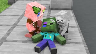 Monster School : Good Baby Zombie but Poor - Sad Story - Minecraft Animation