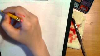 Учимся рисовать акварелью(В видео показаны основные упражнения для обучения рисования акварелью. Также очень важны и приёмы в акваре..., 2012-05-24T17:22:24.000Z)