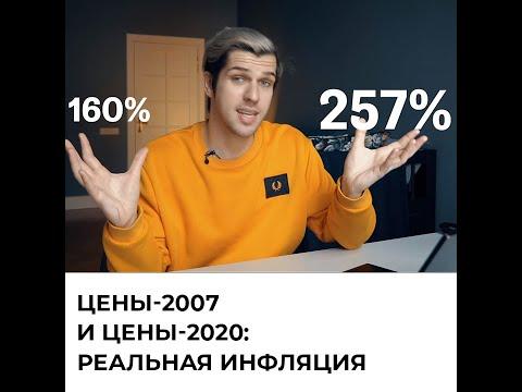 Цены 2007 и цены 2020. Реальная инфляция в России