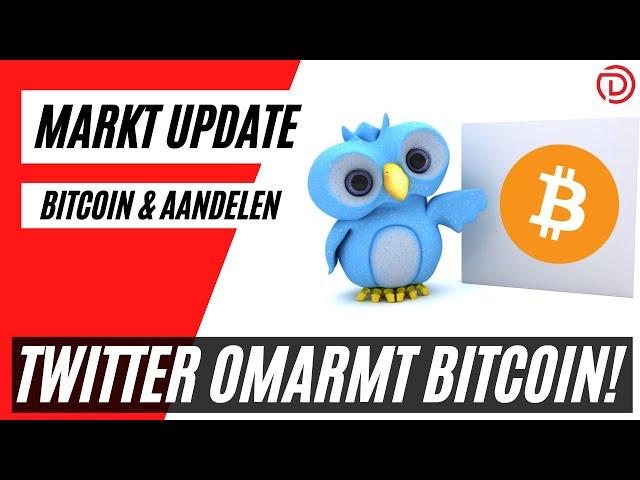 Twitter Omarmt Bitcoin ! | Live Koers Update Bitcoin & Aandelen !