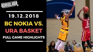 BC Nokia vs Ura Basket Full Game Highlights 19 12 2018