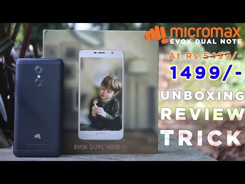 Micromax Evok Dual Note At Rs.1499 | Unboxing | Review | Trick | Dekh Review (Hindi/Urdu)