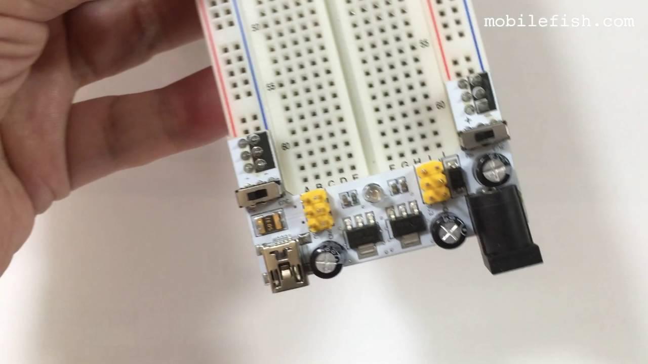 Mb102 Breadboard Power Converter 33v Or 5v Youtube Electronics Technology 5vdc To 12vdc Lt1070 Boost Circuit