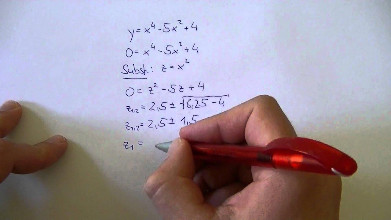 Gleichungen 4. Grades auf quadratische Gleichungen zurückführen ...