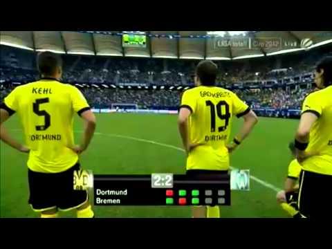 Borussia Dortmund - Werder Bremen Elfmeterschießen LIGA TOTAL CUP 2012 FINALE