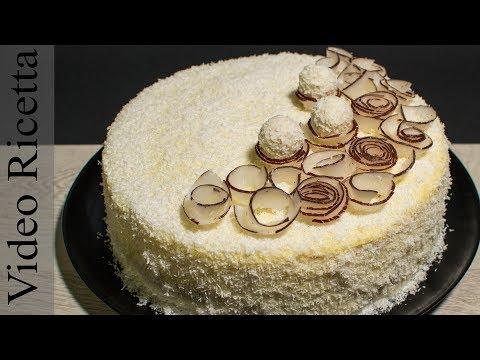 Torta RAFFAELLO. Delicata e Delizosa. (Delicious 8 layers Almond - Coconut Cake)