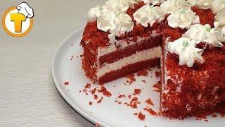 Красный Бархат - самый вкусный торт. Пошаговый рецепт.