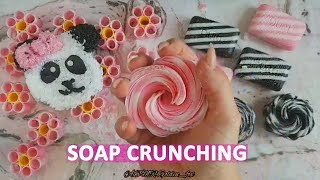 Satisfying video soap crunching and cutting. Only soap carving. Soap ASMR no talking!