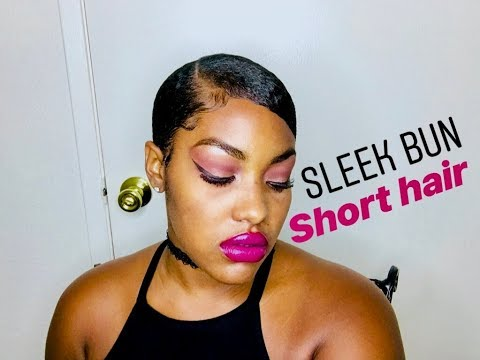 Sleek Low Bun (For Short Hair) Tutorial
