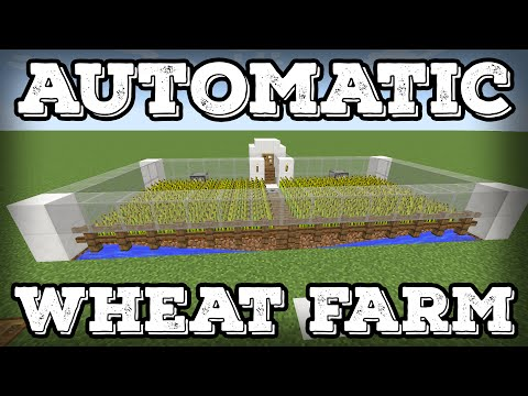 Minecraft Tutorial - Automatic Wheat Farm - Automatic Replanting!(Minecraft 1.12+)