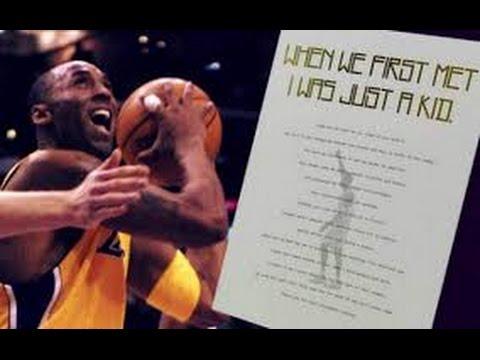 2330e0cc4079 Kobe Bryant Official Letter + Full Retirement Interview - YouTube