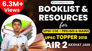 Download Booklist and Resources for UPSC CSE - Prelims & Mains by UPSC Topper 2018 AIR 2 Akshat Jain Mp3 and Videos