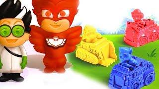 #Пластилин для Детей PJ MASKS ГЕРОИ В МАСКАХ НА РУССКОМ! Play Doh Пластилин Плей До #Щенячий Патруль
