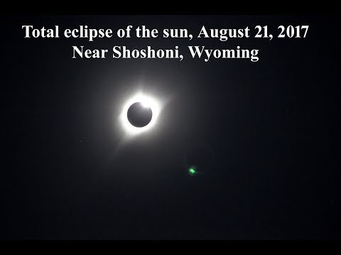 Total eclipse of the sun August 21, 2017 near Shoshoni, Wyoming