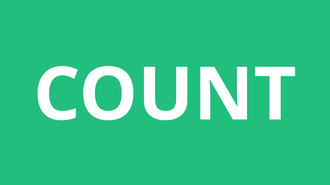 How To Pronounce Count - Pronunciation Academy