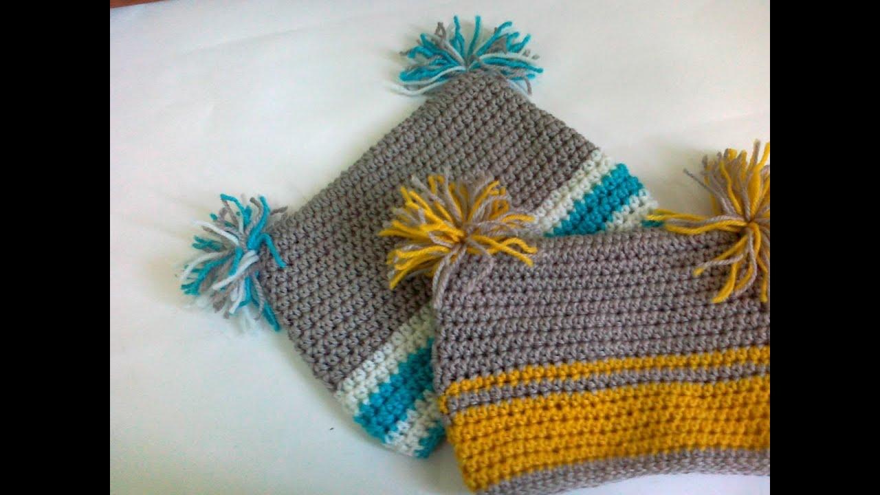 Crochet Square Baby Hat Youtube