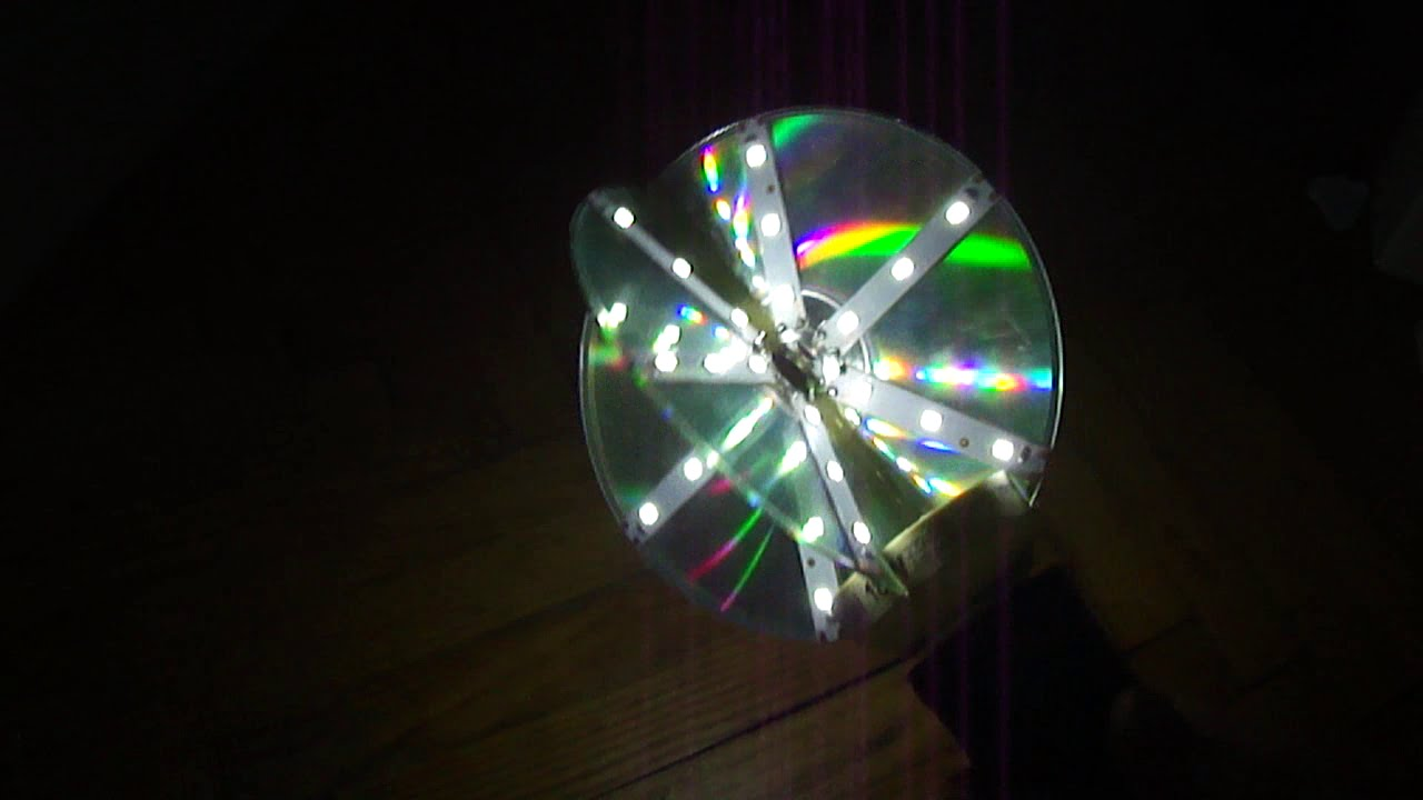 Make your own CD LED lamp! - YouTube