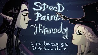 Speed Paint: Threnody/ A Friendaversary Gift for Admin-Chan