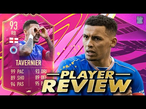 DEFENSIVE MONSTER?!😍 93 FUTTIES TAVERNIER PLAYER REVIEW! FIFA 21 ULTIMATE TEAM