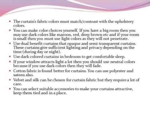 TIPS FOR CHOOSING CURTAINS TO DECORATE YOURHOME