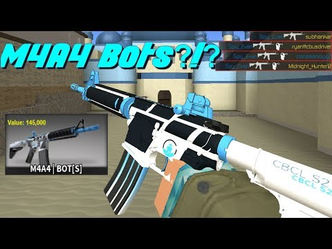 Rare M4A4 Bots Gameplay! (145,000 Value Skin In Counter Blox)
