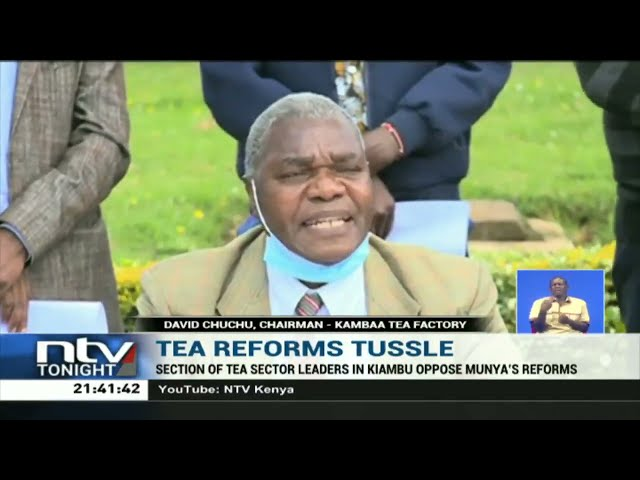 Section of tea sector leaders in Kiambu oppose CS Munya's reforms