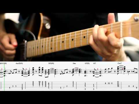 Autumn Leaves - Johnny Mercer (Guitar Chord Melody Lesson)