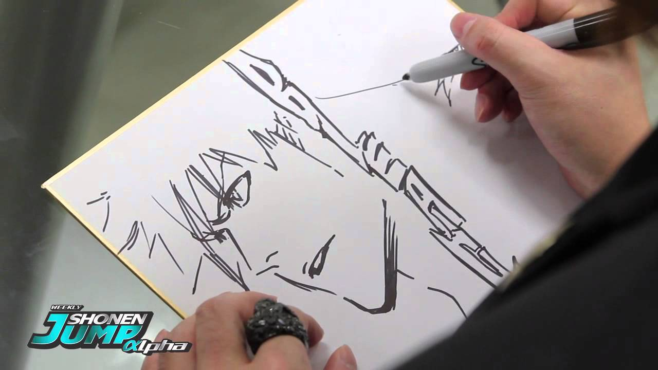 Bleach Tite Kubo Official Creator Sketch Video By Shonen