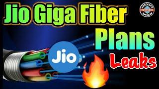 Jio Giga Fiber plans: Reliance Jio Giga Fiber plans leaks | Jio fiber broadband plans (2018)Leaks
