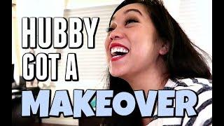 MY HUSBAND GOT A MAKEOVER!!! - Dancember 08, 2017 -  ItsJudysLife Vlogs