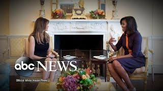 Michelle Obama Welcomes Melania Trump to White House thumbnail