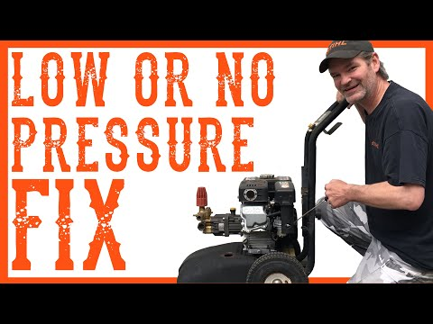 How To Fix A Pressure Washer That Has Low Pressure - Video