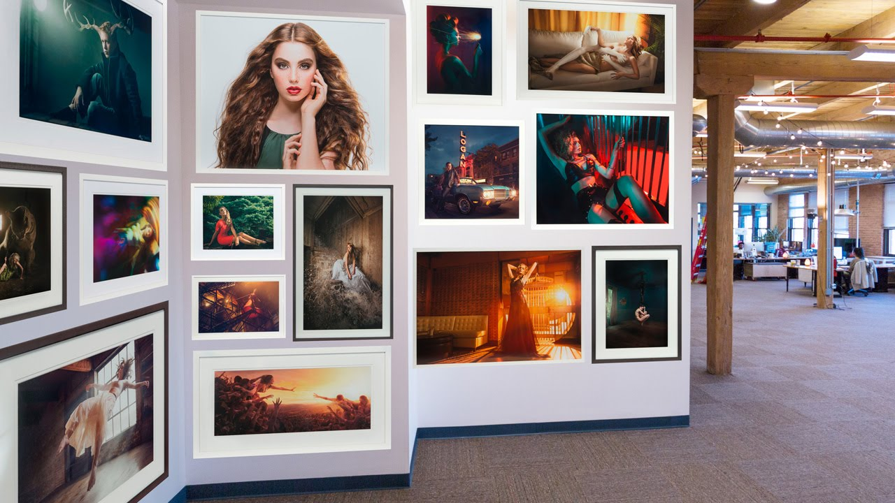 How to place art on a wall in photoshop