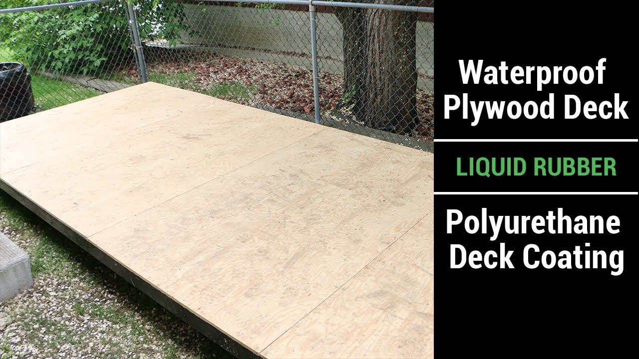 Waterproof Plywood Deck Liquid Rubber