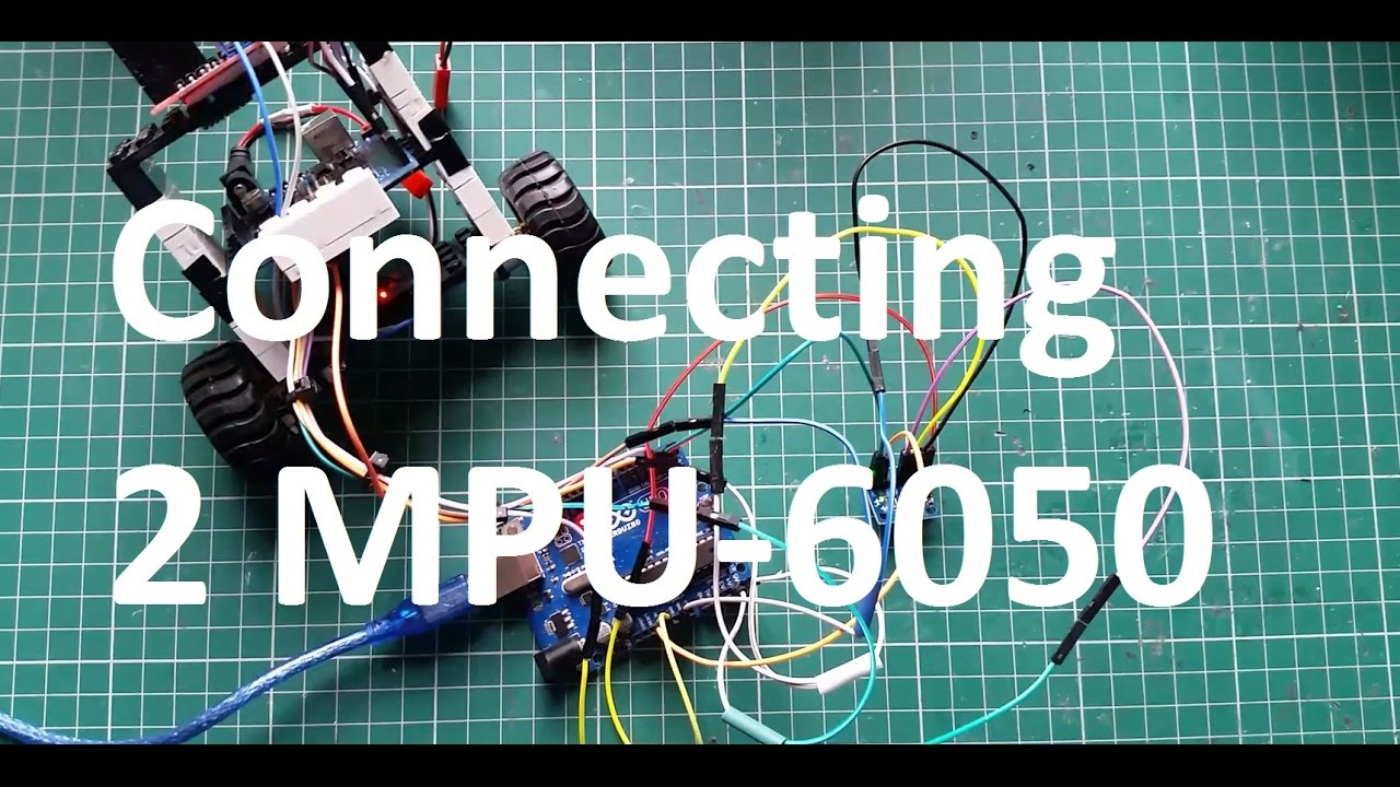 Connecting 2 MPU-6050 GY-521 Wiring Coding Reading Raw Values