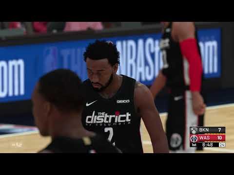NBA 2K19 - Brooklyn Nets vs Washington Wizards (City Jerseys)