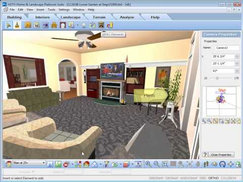 Hgtv home design software inserting interior objects youtube for Interior decorating software free