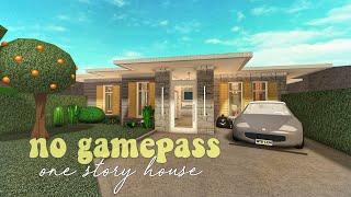 ROBLOX   Bloxburg: no gamepass one story house   40k