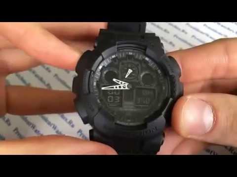 Дорогие стильные часы Casio G-Shock GA-1000FC-1A в Москве - YouTube