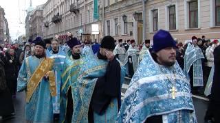 Крестный ход в Петербурге(Пятьдесят тысяч горожан прошли по городу в костюмах казаков, сотрудников ДНД и священнослужителей. Казаки..., 2013-11-04T20:56:37.000Z)