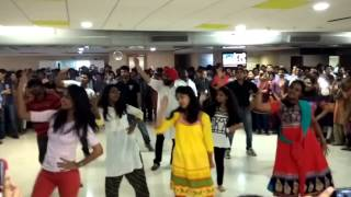 flash mob at hcl hyderabad