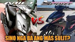 Yamaha Mio Sporty vs. Suzuki Skydrive Sport | Tagalog Comparison | Philippines